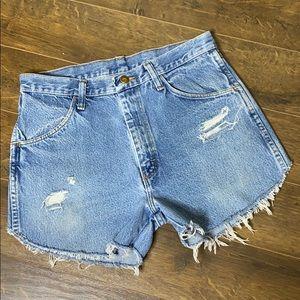 VTG RUSTLER 30 High Waist Cutoff Jean Shorts